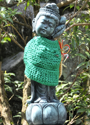 Miyajima_Wool Wrapped Buddha-April_2010