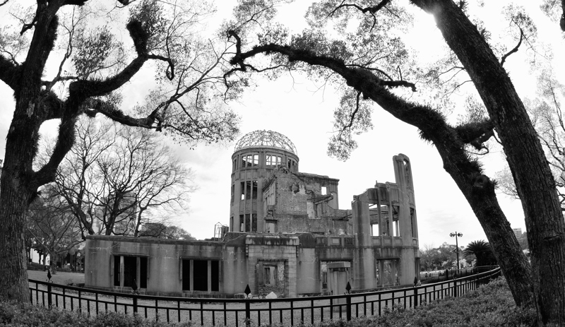 Hiroshima_A_Dome_Fisheye_April_2010_BW_002